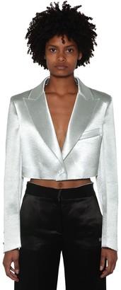 Off-White Off White Cropped Duchesse Blazer