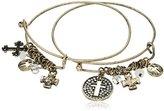 Cara Double Stackable Bracelet Cross Charm Bracelet
