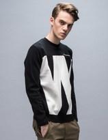 White Mountaineering W Contrasted Sweatshirt