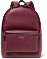 Michael Kors Full-grain Leather Backpack - Burgundy