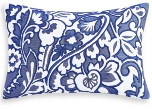 "Charter Club Damask Designs Blue Paisley 12"" x 18"" Decorative Pillow, Created for Macy's Bedding"