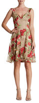 Dress the Population Maya Floral Lace Fit-&-Flare Dress