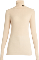 Rochas Roll-neck ribbed-knit sweater