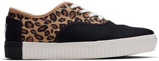 Toms Leopard Printed Canvas Women's Cordones Indio Sneakers Venice Collection