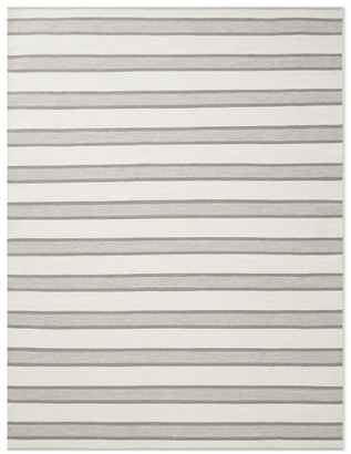 Williams-Sonoma Perennials Awning Stripe Indoor/Outdoor Rug, Grey