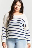 Forever 21 Plus Size Striped Pullover