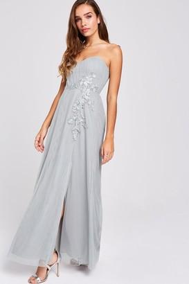 Little Mistress Lissa Waterlily Sweetheart Neckline Maxi Dress