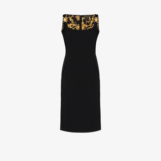 Versace Medusa strap sleeveless dress