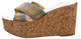 Christian Louboutin Platform Slide Sandals