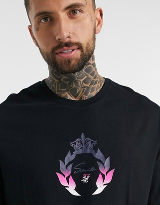 SikSilk essential t-shirt in black