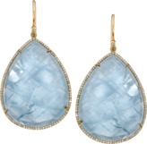 Irene Neuwirth JEWELRY Yellow Gold, Aquamarine and Diamond Pave Earrings