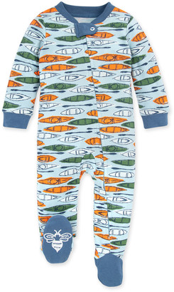 Burt's Bees Without a Paddle Organic Baby Zip Front Loose Fit Pajamas
