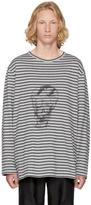 Yohji Yamamoto Grey Long Sleeve Skull T-Shirt
