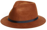 Topman Brown Short Brim Wool Hat