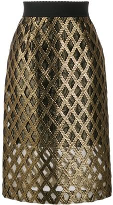 Dolce & Gabbana Embroidered High-Waisted Skirt