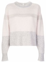 Leith Cropped Striped Cashmere Sweater