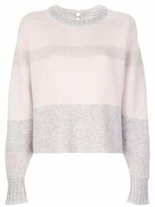 Le Kasha Leith Cropped Striped Cashmere Sweater