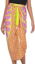 Bali and Java Silk Screened 100% Rayon Sarong, 'Warm Sunshine'