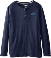 Dickies Men's Big Long Sleeve 3 Button Henley