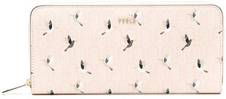 Furla Babylon bird-print continental wallet