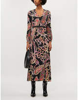 Claudie Pierlot Racine woven paisley-print maxi dress