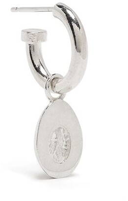 VICTORIA STRIGINI Baby Egg sterling silver hoop earring