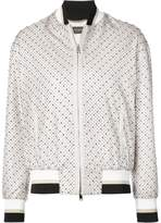Versace micro studded bomber jacket