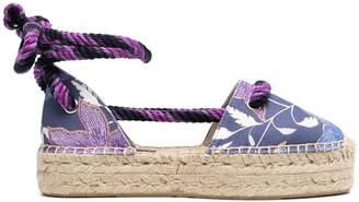 Etoile Isabel Marant Floral-Print Lace-Up Espadrilles