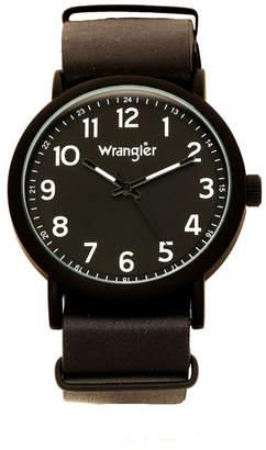 Wrangler Men Watch, 51MM Ip Black Case with Black Dial, Black Arabic Numerals with Black Hands, Black Nato Strap, Analog, Black Second Hand