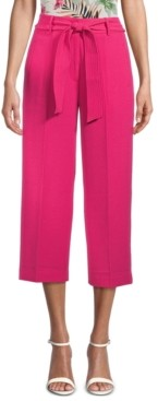 Bar III Tie-Waist Cropped Pants, Created for Macy's