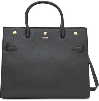 Burberry medium Title two-handle bag