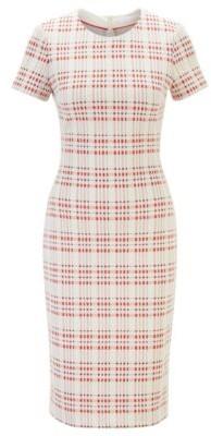 HUGO BOSS Regular Fit Business Dress In A Cotton Blend - Patterned