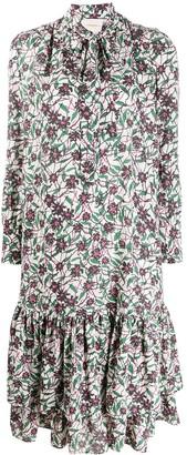 La DoubleJ floral long-line dress
