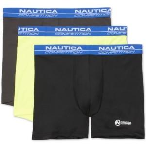 Nautica Men's 3-Pk. Mesh Performance Boxer Briefs