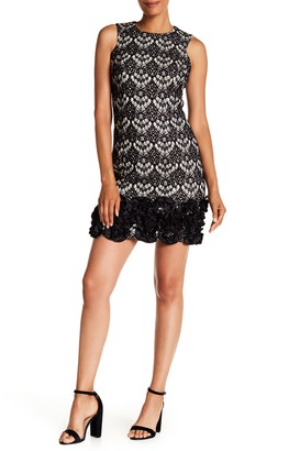 Donna Ricco Sleeveless Lace Mini Dress