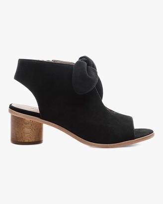 Bernardo Suede Luna Peep-Toe Sandal