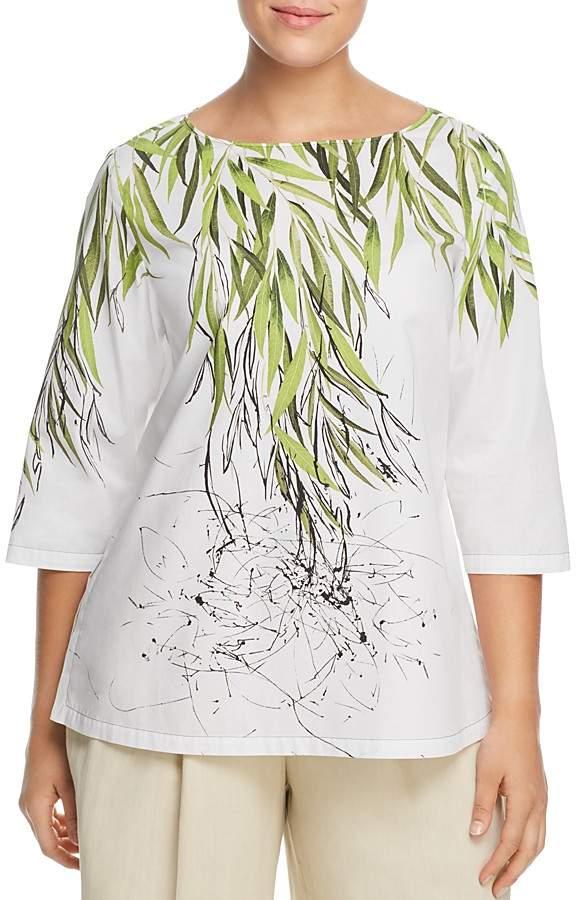 Marina Rinaldi Brigitte Leaf-Print Top