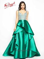 Mac Duggal Prom - 48501 M V-Neck Gown In Emerald Green