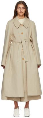 Lemaire Beige Linen Trench Coat