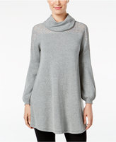 Style&Co. Style & Co. Petite Cowl-Neck Lace Sweater, Only at Macy's