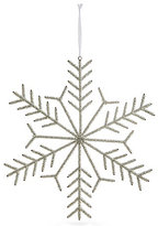 Marks and Spencer Hanging Silver Beaded Snowflake