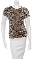 Dolce & Gabbana Leopard Print Mesh Top