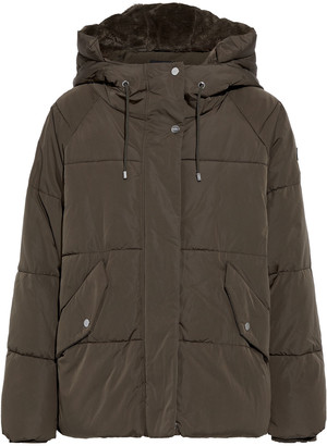 DKNY Quilted Shell Hooded Coat