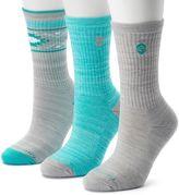 Free Country Women's 3-pk. Tribal Marled Wool-Blend Crew Socks