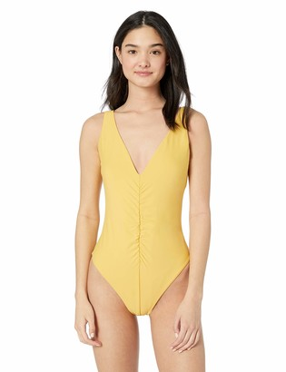 Vicious Young Babes   Vyb Vicious Young Babes - VYB Junior's Over The Shoulder Ruched Front One Piece Swimsuit