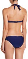 Betsey Johnson Ruffle Halter Underwire Bikini Top