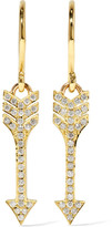 Jennifer Meyer Mini Arrow 18-karat Gold Diamond Earrings - one size