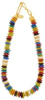 Lizzie Fortunato Laguna Beaded Gold-plated Metal And Glass Necklace - Womens - Multi