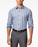 Tasso Elba Men's Grid-Print Long-Sleeve Shirt, Created for Macy's