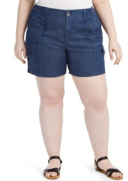 Style&Co. Style & Co Plus Size Chambray Shorts, Created for Macy's